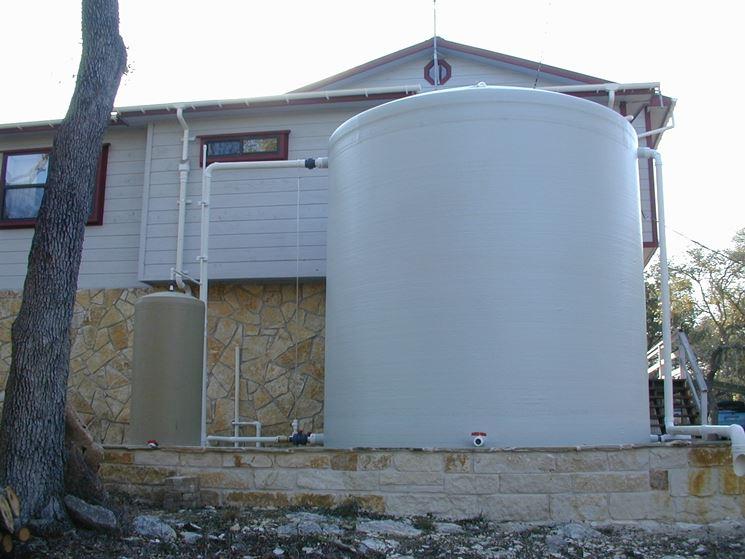 Serbatoio per la raccolta delle acque piovane