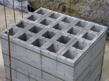 blocco di calcestruzzo muro
