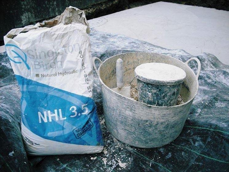 preparazione calce idraulica