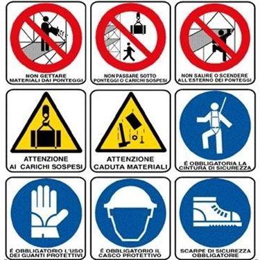 dati cartello di cantiere
