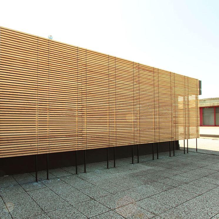 facciata in legno