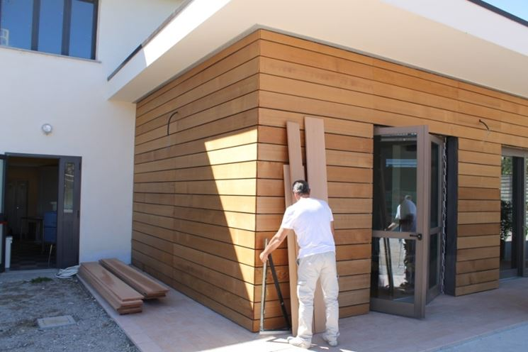 facciate in legno