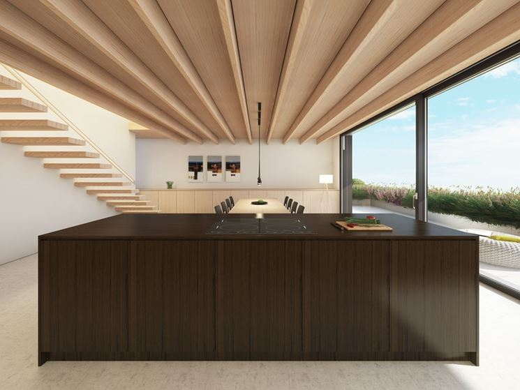 soffitto in legno microlamellare