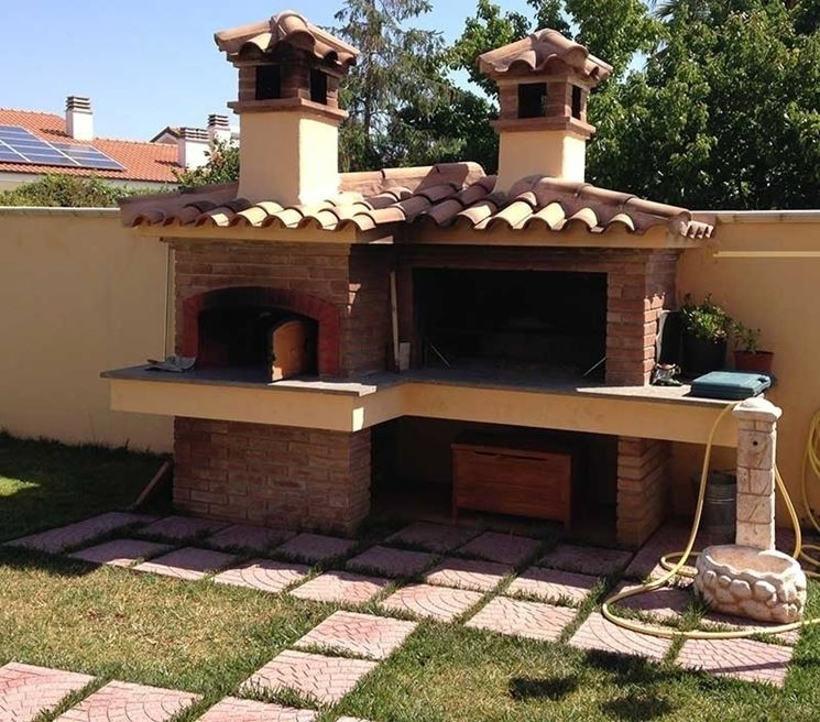 Super barbecue e forno pizza in muratura zi56 pineglen - Barbecue in muratura con forno a legna ...
