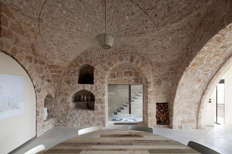 Volte in pietra e mattoni materiali per edilizia caratteristiche