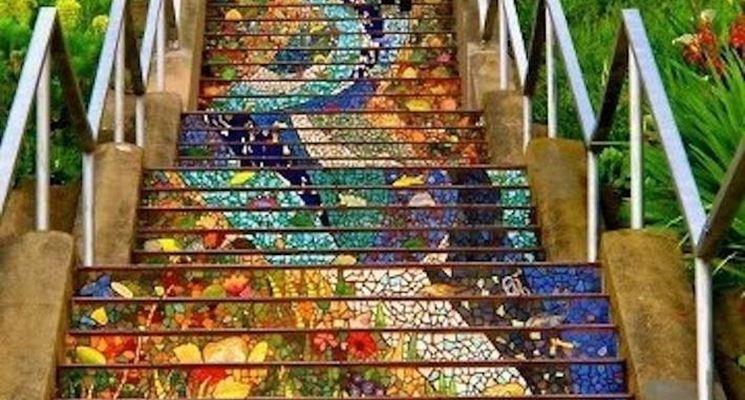 Mosaico con mattonelle mattonelle - Piastrelle tipo mosaico ...