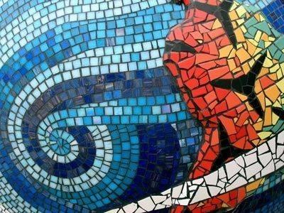 Mosaico con mattonelle mattonelle