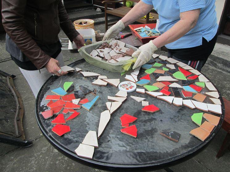 Posizionamento tessere da mosaico fai da te