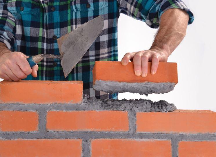 fare muro di mattoni
