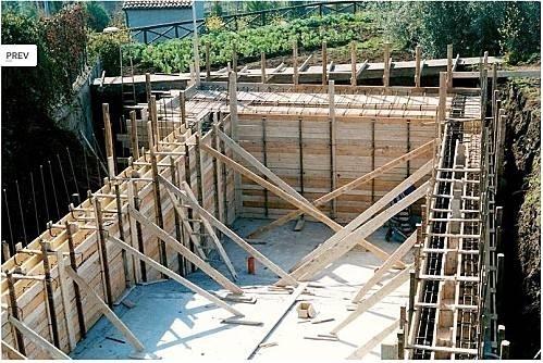 Muri in cemento armato muratura for Poco costoso per costruire piani di casa