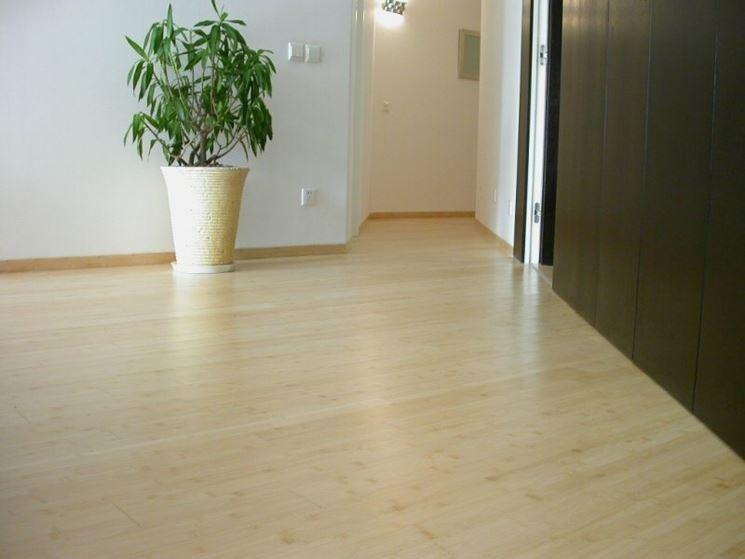 esempio di pavimento in bamboo