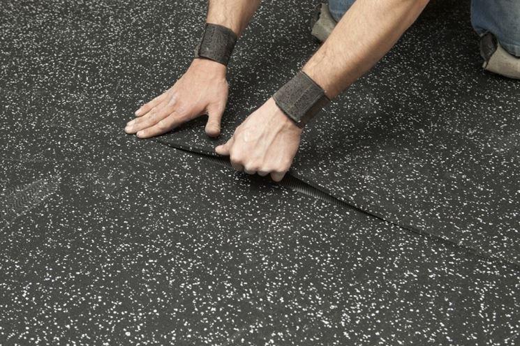 Posa pavimentazione gomma