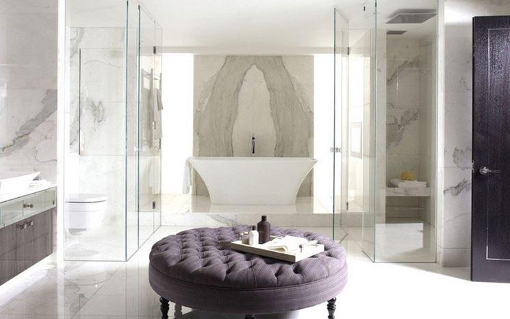 pavimento bagno in marmo