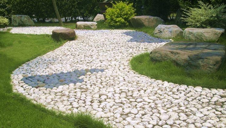 Pavimenti pietra pavimentazioni pavimenti in pietra - Giardino con sassi bianchi ...