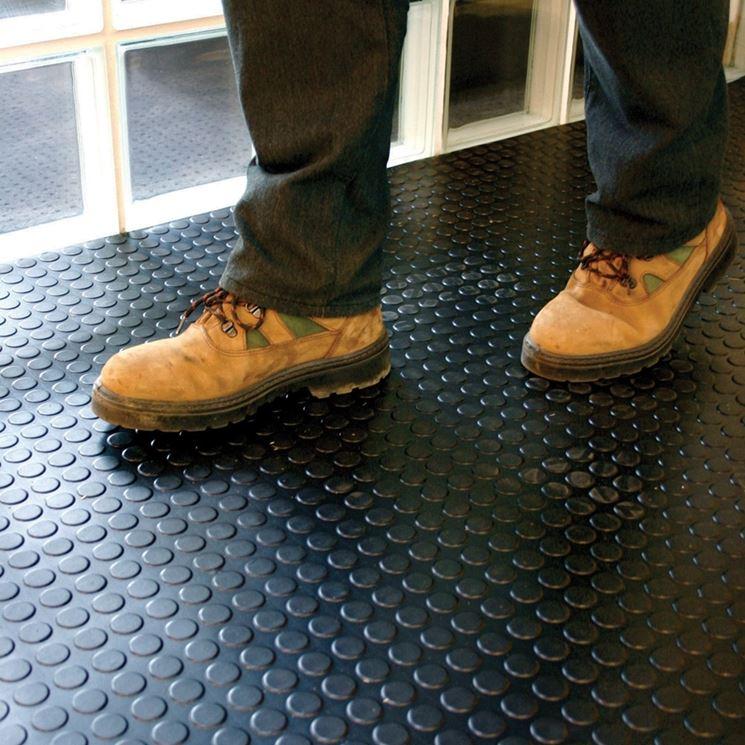 Esempio di pavimento in gomma