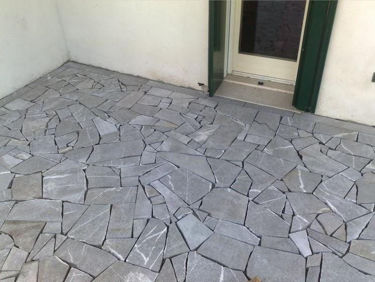 Pavimento in pietra pavimentazioni come realizzare un pavimento in pietra - Piastrelle di pietra per esterni ...