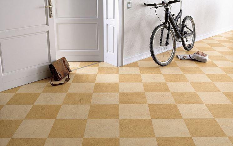 pavimentazione in linoleum