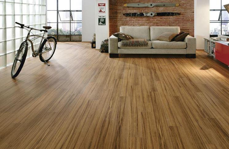 pavimento in laminato moderno