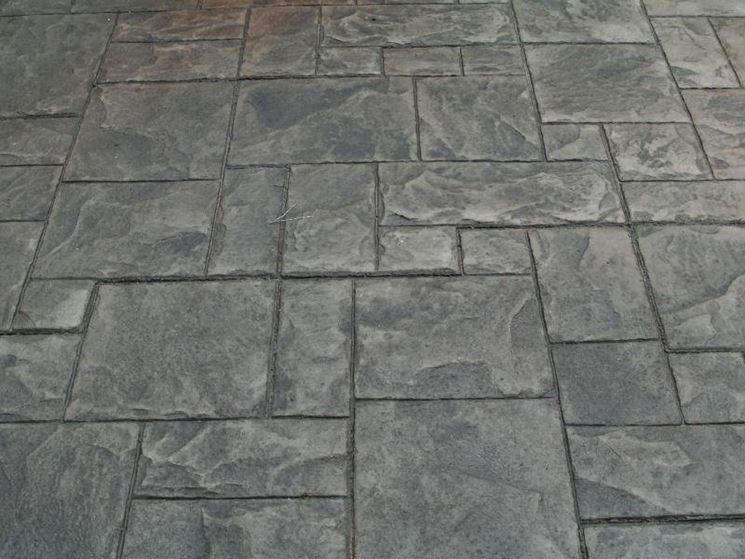 Pavimento Calcestruzzo Stampato : Posa pavimento stampato pavimentazioni