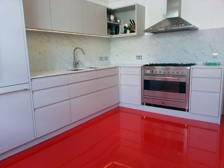 Pavimento da cucina in resina