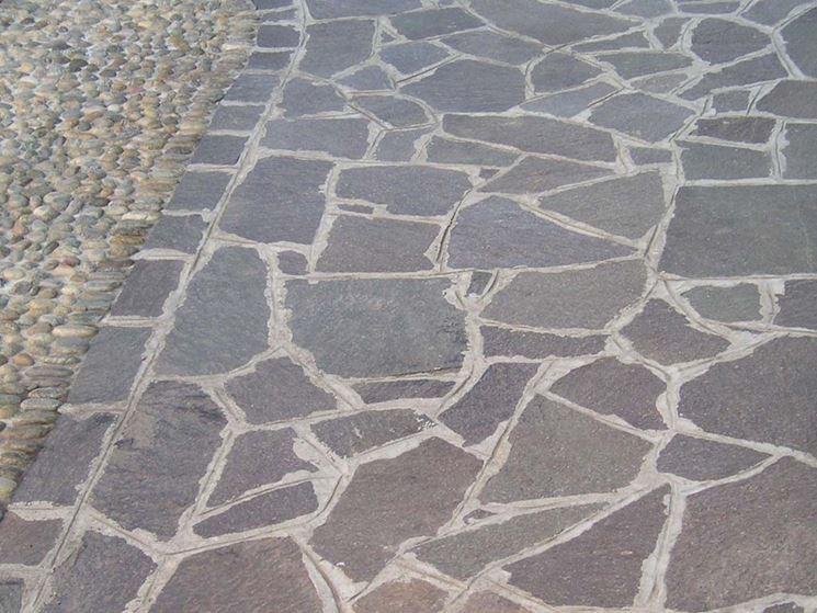 Pavimentazione con beole pavimento per esterni - Tipi di posa piastrelle ...
