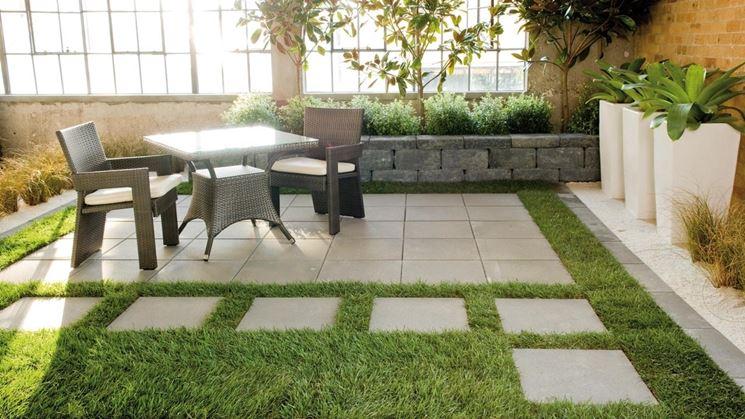 Pavimentazione giardino pavimento per esterni come - Pavimentazione giardino senza cemento ...