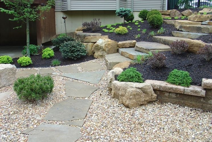 Pavimentazione giardino pavimento per esterni come for Large white landscaping rocks