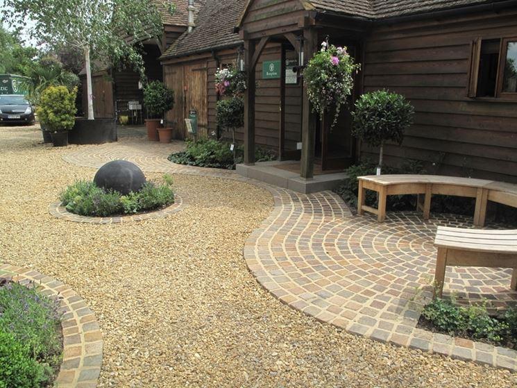 ghiaino per pavimento giardino