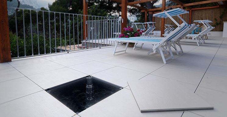 Pavimenti galleggianti per terrazzo