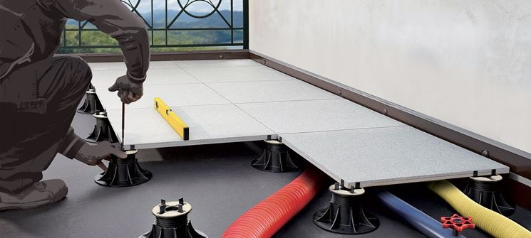 pavimento galleggiante esterno