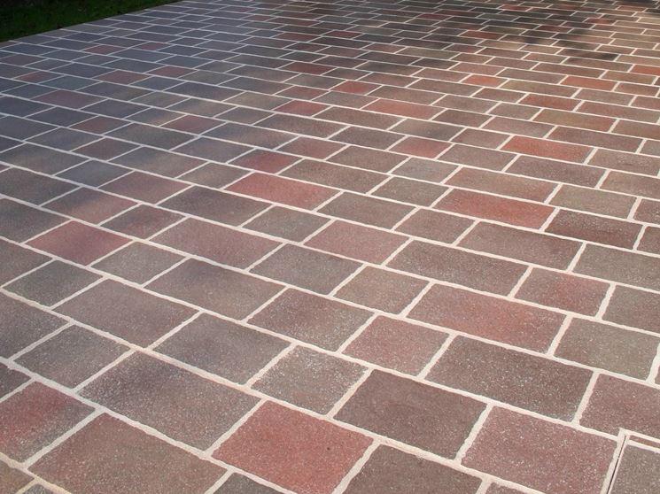 pavimento in porfido colorato