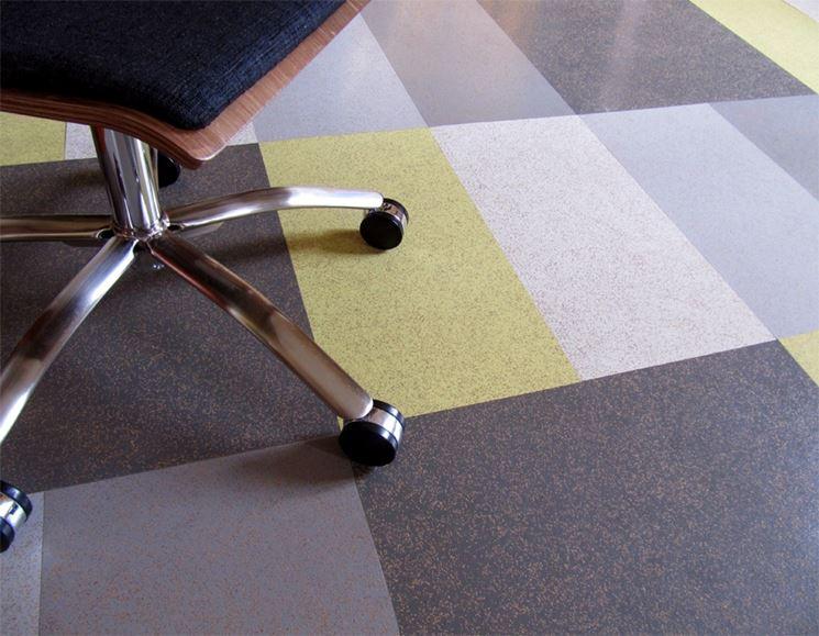 pavimento in gomma colorato