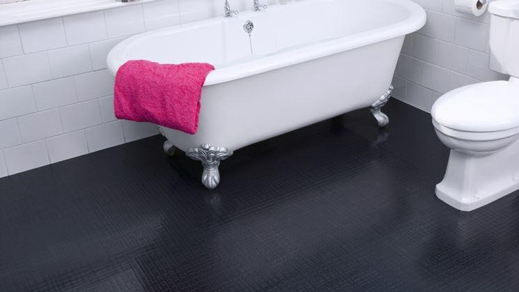 pavimento in gomma per bagno