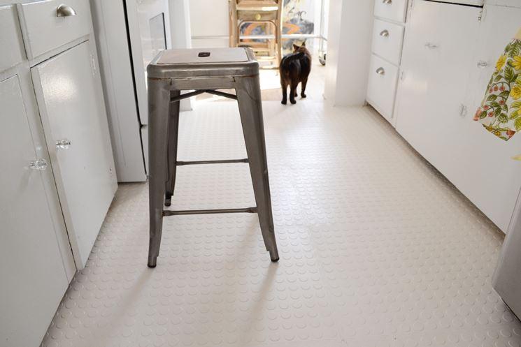 pavimento gommato in cucina