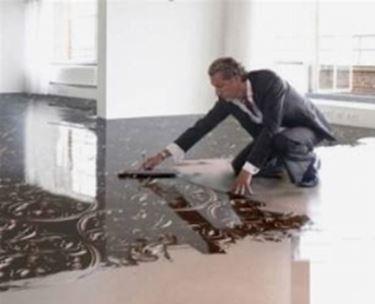 pavimento in resina particolare