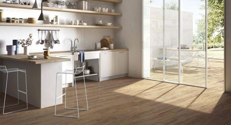 Gres porcellanato effetto legno piastrelle - Rivestimento cucina effetto legno ...