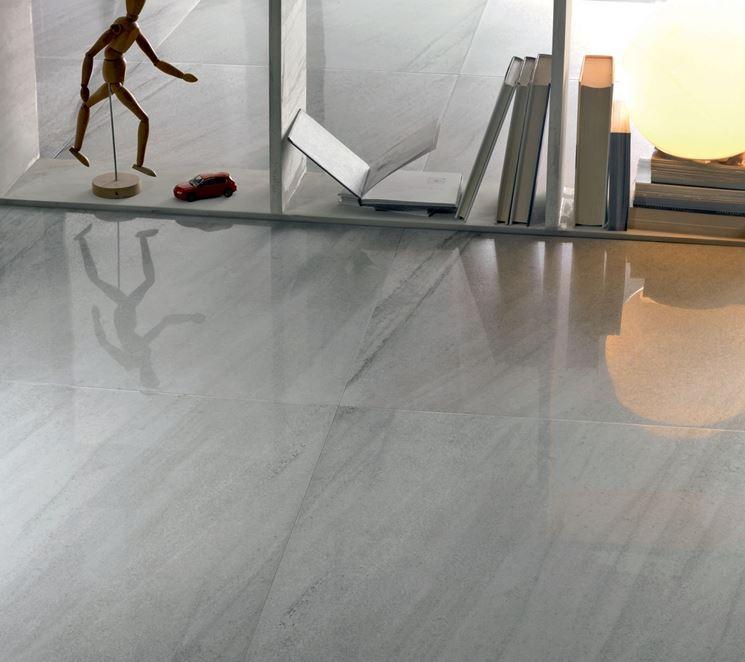 pavimento moderno lappato effetto marmo