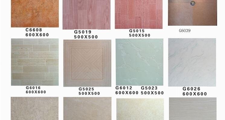 varie mattonelle in gres porcellanato