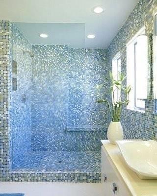 Piastrelle bagno mosaico piastrelle - Piastrelle bagno lucide o opache ...