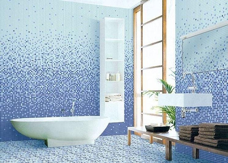 Rivestimenti bagno in mosaico<p />