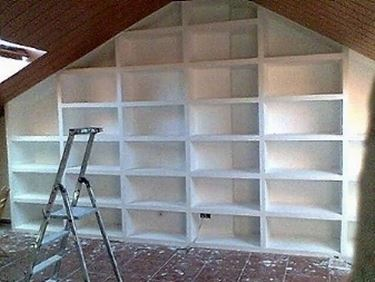 libreria in cartongesso fai da te