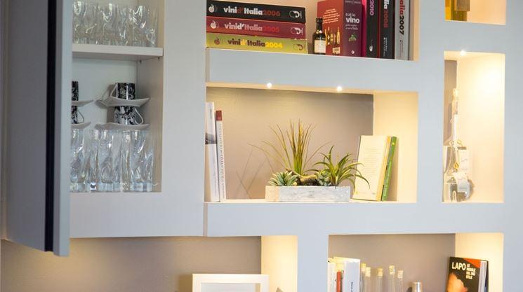Pareti attrezzate in cartongesso cartongesso caratteristiche delle pareti attrezzate in - Parete mobile in cartongesso ...