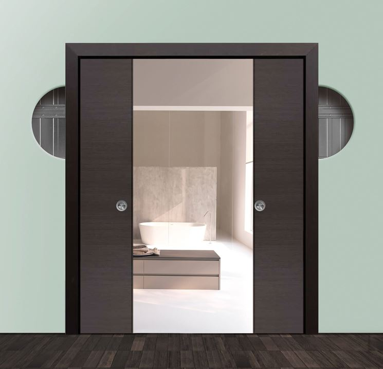 Porta Scorrevole In Parete Di Cartongesso : Estremamente parete cartongesso e vetro cg pineglen