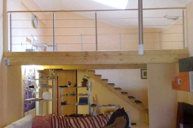 Soffitto In Legno Lamellare : Soppalco in legno lamellare controsoffitti