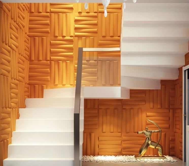 Pannelli fonoassorbenti 3d isolamento tipologie e - Pannelli polistirolo decorativi ...