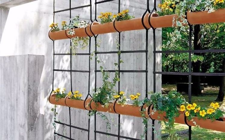 Muri e divisori fioriti pareti divisorie muri e for Divisori da giardino