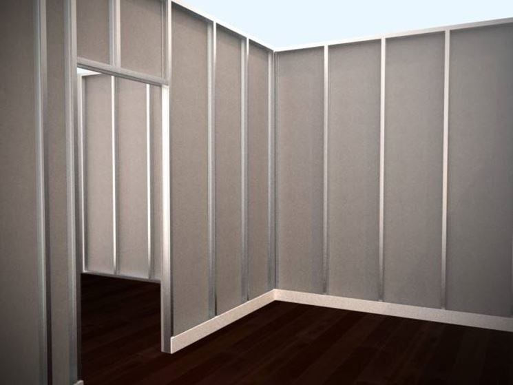 Parete attrezzata in cartongesso pareti divisorie - Parete divisoria cartongesso ...