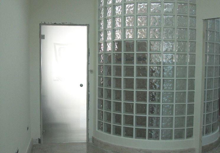 pareti divisorie in vetrocemento - Pareti divisorie