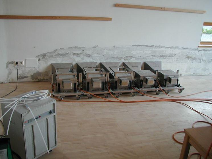 Macchinari utilizzati per la deumidificazione a microonde