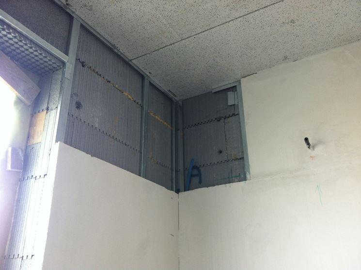montaggio parete in cartongesso